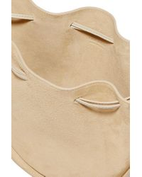 The Row Natural Suede Shoulder Bag