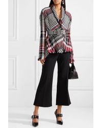 Oscar de la Renta - Black Fringed Checked Cotton-blend Tweed Jacket - Lyst