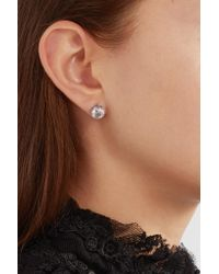 Bottega Veneta - Metallic Oxidized Silver Cubic Zirconia Earrings - Lyst