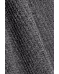 Madeleine Thompson Gray Ada Open-back Ribbed Cashmere Bodysuit