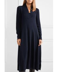 Agnona - Blue Cashmere Midi Dress - Lyst