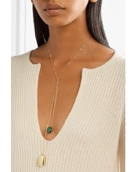 Dinosaur Designs - Metallic Pebble 2 Gold-filled Resin Necklace - Lyst