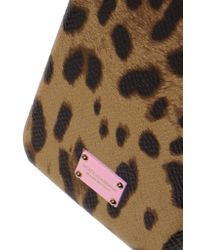 Dolce & Gabbana Brown Leopard-print Textured-leather And Shell Iphone 7 Case