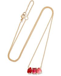 Brooke Gregson - Metallic Rivera 18-karat Gold, Tourmaline And Sapphire Necklace - Lyst