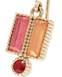 Larkspur & Hawk - Metallic Cora 14-karat Gold, Quartz And Sapphire Earrings - Lyst