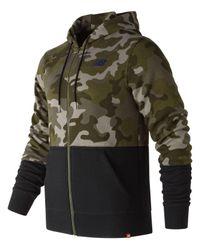 New Balance - Green Essentials Full Zip Hoodie for Men - Lyst