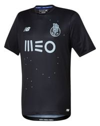New Balance - Black Fc Porto Mens Away Ss Jersey for Men - Lyst