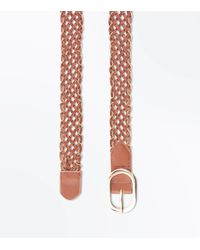 New Look - Brown Tan Chain Plaited Jeans Belt - Lyst