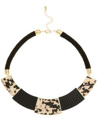 New Look | Black Shell Panel Rope Necklace | Lyst