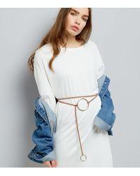 New Look | Multicolor Cream Cord Wrap Metal Loop Belt | Lyst