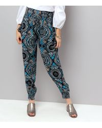 Apricot - Blue Paisley Print Tie Pocket Joggers - Lyst