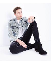 New Look - Black Tie Dye Super Skinny Jeans for Men - Lyst