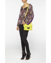 Nicole Miller - Yellow Prima Crossbody Bag - Lyst