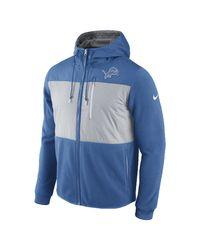 Nike - Blue Championship Drive Fleece Full-zip (nfl Lions) Men's Hoodie for Men - Lyst