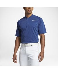 c0241ab52385f Lyst - Nike Tw Dry Cotton Blade Men's Standard Fit Golf Polo Shirt ...