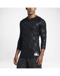 Nike - Black Pro Hypercool Men's 3/4 Sleeve Baseball Top for Men - Lyst