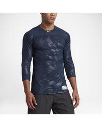 04af95e6f Nike Pro Hypercool Men's 3/4 Sleeve Baseball Top in Blue for Men - Lyst