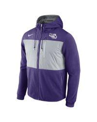 Nike - Purple College Championship Drive Av15 Fleece (lsu) Men's Full-zip Hoodie for Men - Lyst
