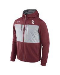 Nike | Red College Championship Drive Av15 Fleece (oklahoma) Men's Full-zip Hoodie for Men | Lyst