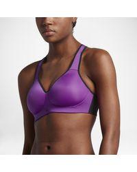5b717b49092b6 Nike Pro Rival Women s High Support Sports Bra in Purple - Lyst