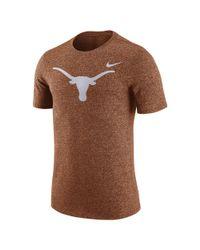 Nike - Orange College Marled Logo (texas) Men's T-shirt for Men - Lyst