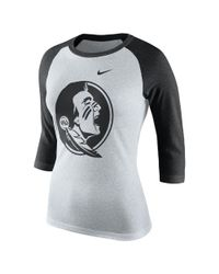 Nike - Black College Tri Raglan (florida State) Women's 3/4 Sleeve T-shirt - Lyst