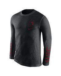 Nike - Black College Tri Fresh (usc) Men's Long Sleeve T-shirt for Men - Lyst