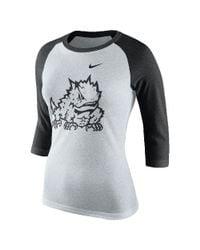 Nike - White College Tri Raglan (tcu) Women's 3/4 Sleeve T-shirt - Lyst