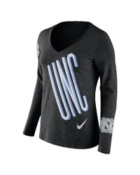 Nike | Black College Tri Mid V (unc) Women's Long Sleeve T-shirt | Lyst