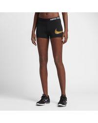 "Nike | Black Pro Logo Women's 3"" Training Shorts | Lyst"
