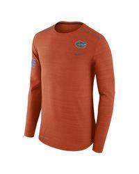 Nike - Orange College Breathe Player (florida) Men's Long Sleeve Top for Men - Lyst