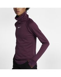Nike - Purple Aeroreact Women's Long Sleeve Golf Top - Lyst