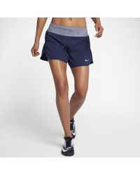 "Nike - Blue Flex Women's 5"" Running Shorts - Lyst"