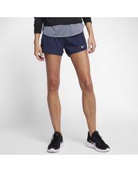 "Nike - Blue Flex Women's 3"" Running Shorts - Lyst"