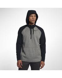 Nike - Gray Therma Utility-Trainings-Hoodie mit Viertelreißverschluss für Herren for Men - Lyst
