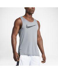 dee94960afbe1b Lyst - Nike Dry Elite Men s Basketball Tank in Gray for Men