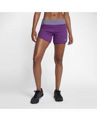 "Nike - Purple Flex Women's 5"" Running Shorts - Lyst"