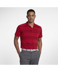 901b5db326188 Nike Tw Zonal Cooling Men's Standard Fit Golf Polo Shirt in Red for ...