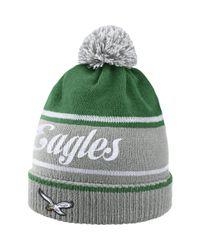 Nike - Green Historic (nfl Eagles) Knit Hat (silver) for Men - Lyst
