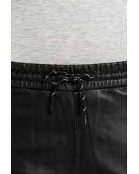 T By Alexander Wang - Black Nappa Leather Palazzo Pants - Lyst