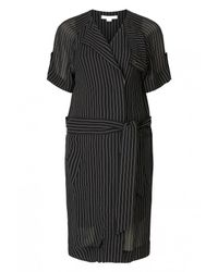 Alexander Wang   Black Short Sleeve Trench Dress   Lyst