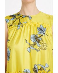Vivetta - Yellow Cale Printed Dress - Lyst