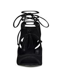 Nine West | Black Maisie Peep Toe Pumps | Lyst