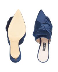 Nine West - Blue Molasses Pointy Toe Mules - Lyst
