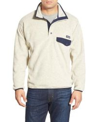 Patagonia Natural 'synchilla Snap-t' Pullover for men
