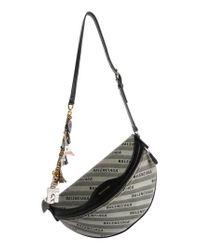 Balenciaga - Gray Extra Small Souvenir Logo Belt Bag - Lyst