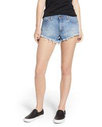 Volcom - Blue Stoney Cutoff Denim Shorts - Lyst