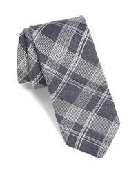 Ted Baker - Gray Plaid Silk Tie for Men - Lyst