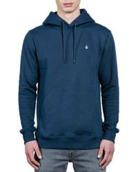 Volcom - Blue Single Stone Hoodie for Men - Lyst