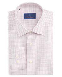 David Donahue | Pink Regular Fit Check Dress Shirt for Men | Lyst